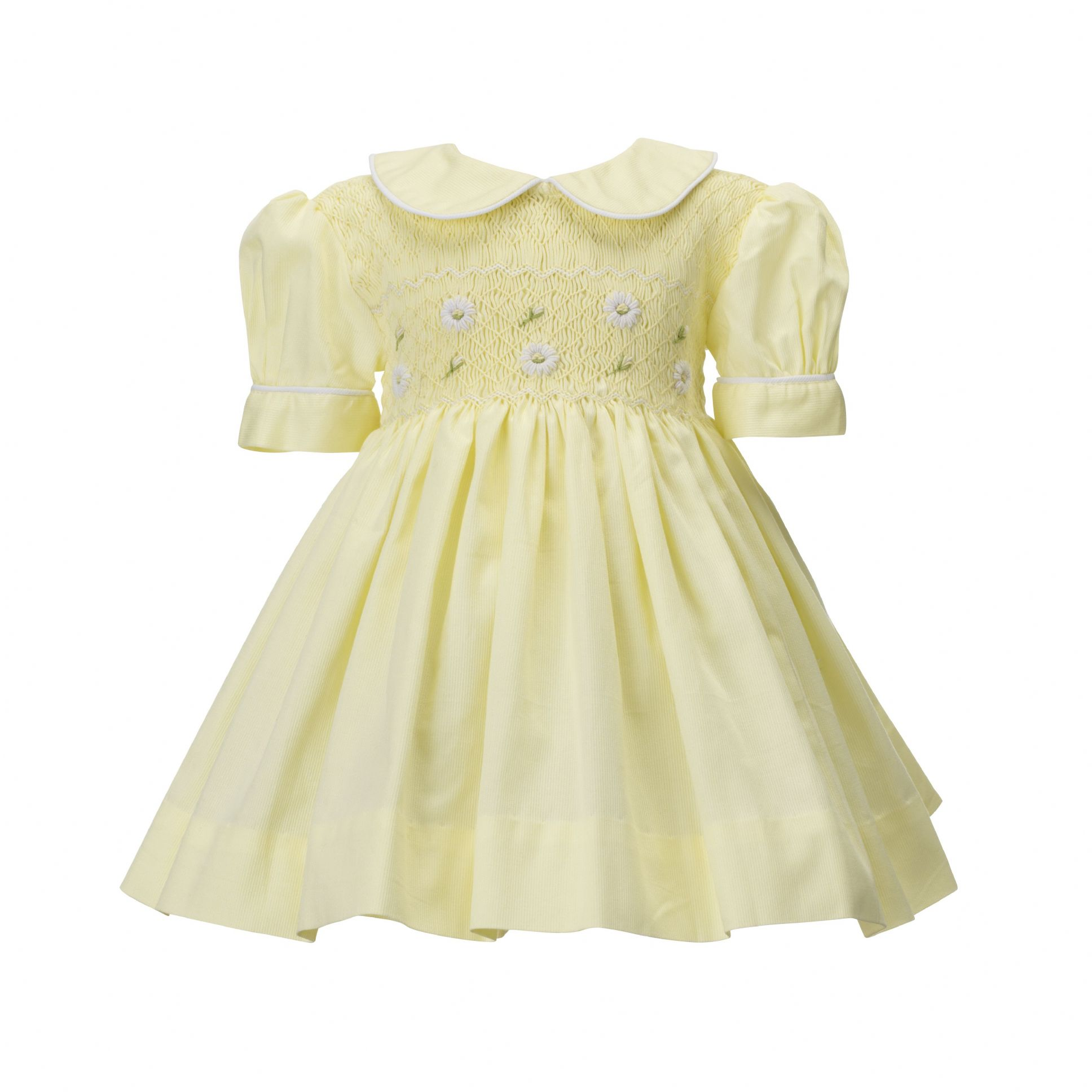 ce154eb84 Baby yellow hand smocked dress